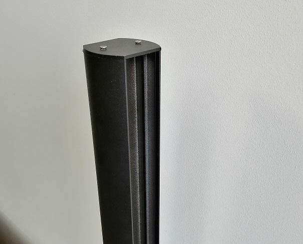 poteaux aluminium feuillure 28mm et 45mm