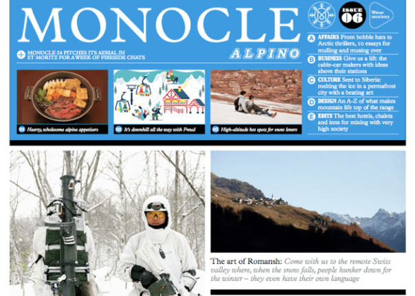 Monocle Launches Third Issue of Winter Newspaper Alpino