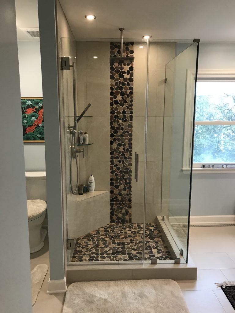 shower pans tile vs solid surface