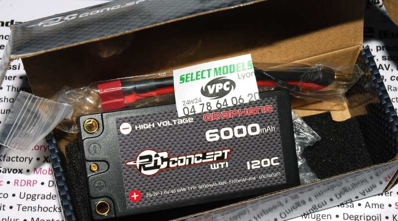 Lipo RC Concept shorty 6000 120C 7.6V hv