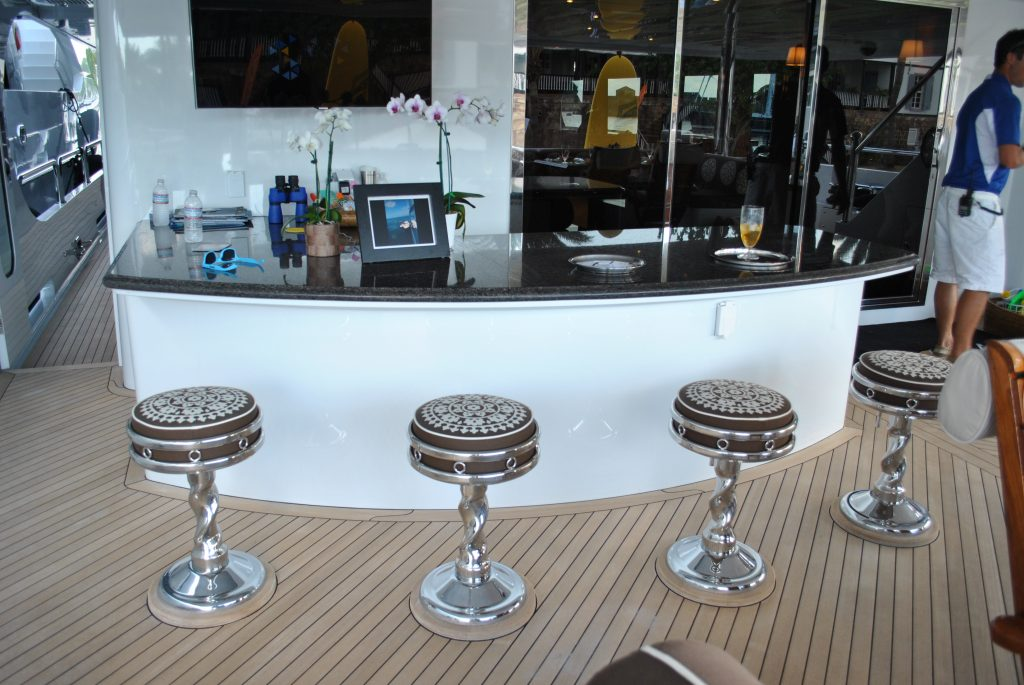 Luxury Mega Yacht Party Girl Sun Deck Bar Select Yachts