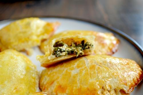 Spinach and Three Cheese Empanadas