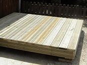 Your completed raised timber deck