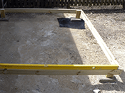 Check for level with a spirit level