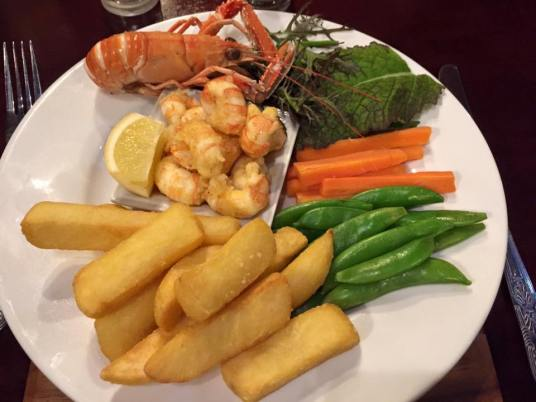 Langoustines at local pub