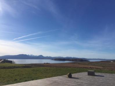View from decking at locholl lodge