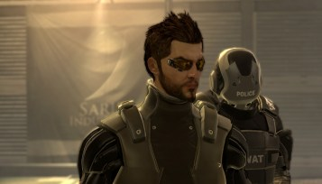 Adam Jensen leaves SWAT to clean up after the hostage situation