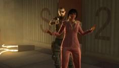 Zeke Sanders holds plant manager Josie Thorpe hostage