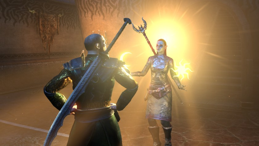 Azura speaks through the Ashlander, Seryn, in The Elder Scrolls Online: Morrowind.