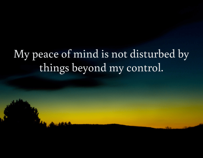 Peace of Mind Affirmation