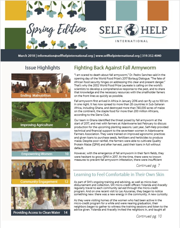 picture of spring gala newsletter
