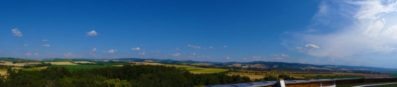 View from Radošov lookout tower