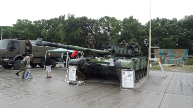 Tank T-72 M4 CZ at airshow in Přerov
