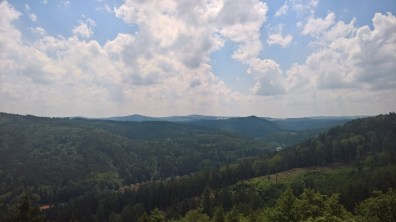 View of Slavkov Forest from the Diana lookout tower