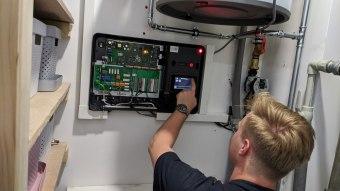 Konfigurace řídícího modulu tepelného čerpadla NIBE SMO S40
