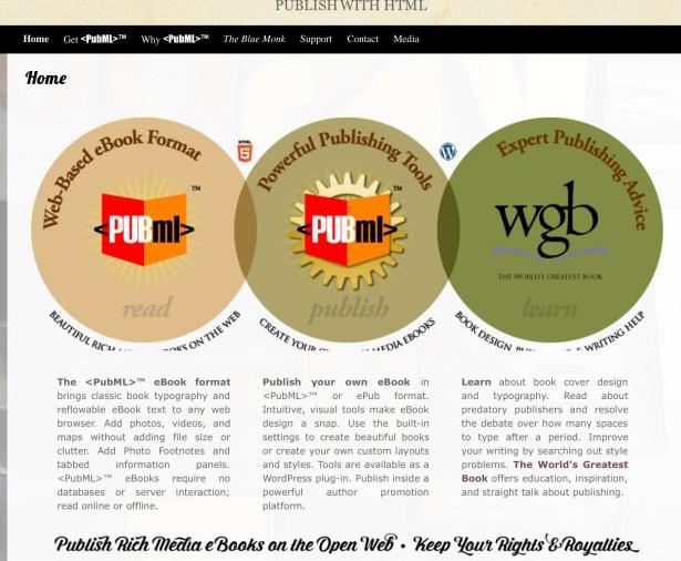 Die Homepage von PubML