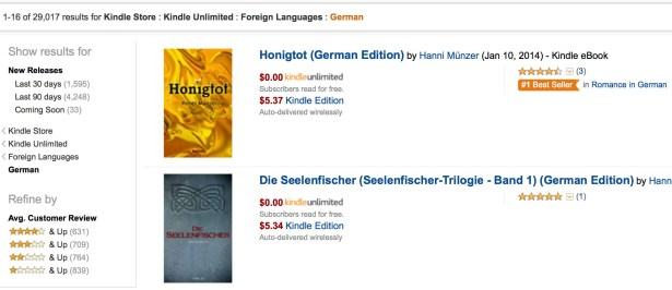 Auch 30.000 deutschsprachige Titel stehen bereit