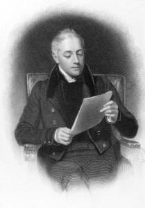 Der schottische Verleger John Murray II (1778-1843) liest (vielleicht) die Bewerbung eines Autors