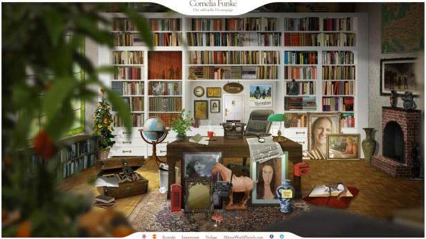 Die Homepage von Cornelia Funke