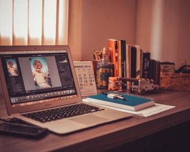 Laptop on Home Office Desk