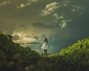 Girl Dress Field Sky