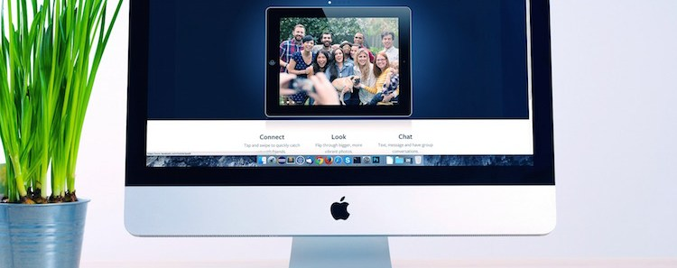 Website on Computer