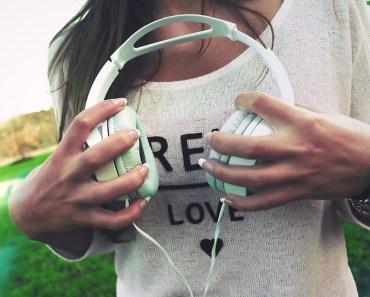 Girl Headphones Hands