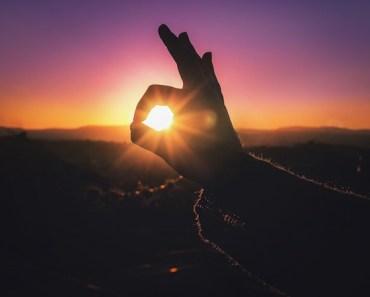Sunset Hand Fingers