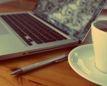 Laptop Coffee Saucer Pen