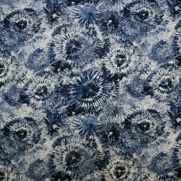 tissu viscose effet gaufre soleil bleu