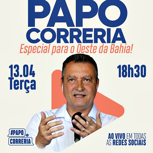 Oeste da Bahia é destaque no programa Papo Correria desta terça-feira (13)