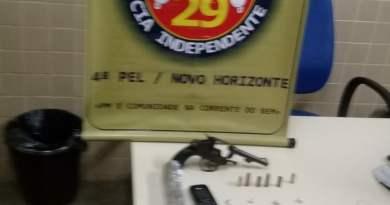 Casal é apreendido em Novo Horizonte com arma e drogas
