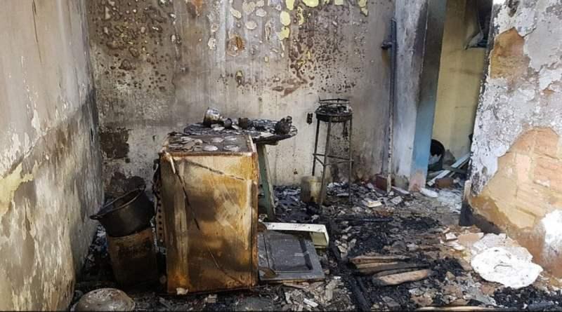 Idoso morre carbonizado após esquecer panela no fogo