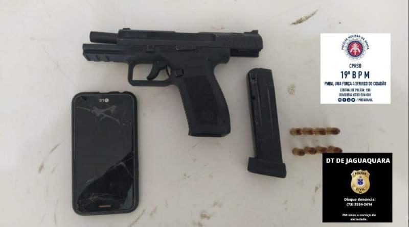 Oito suspeitos são localizados com armas no interior da Bahia, em Jaguaquara e Angical