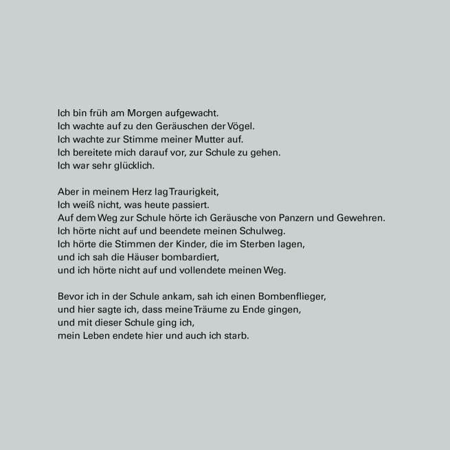 Gedicht eines Schülers