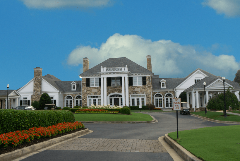 The Clubhouse at the Atlanta Country Club.
