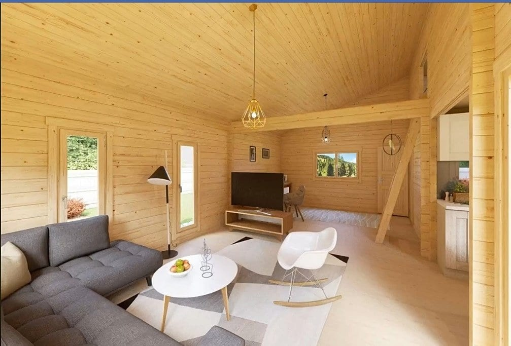 Living Room of Tiny House Sellect Realty