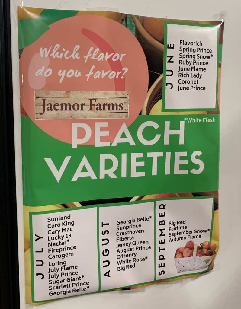 Peach Varieties and When They are Available