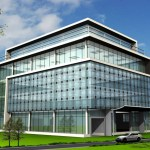 commercial glass building