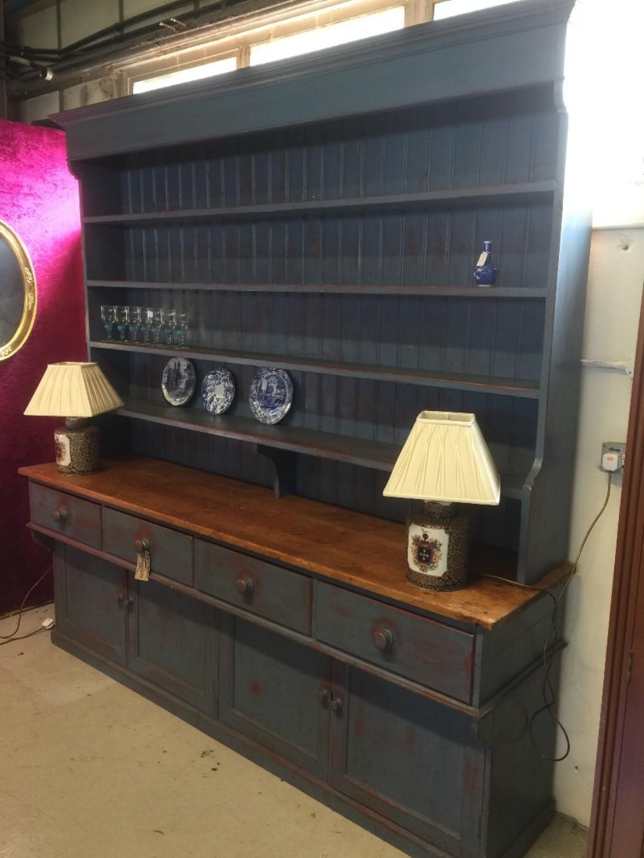 large edwardian pine dresser in