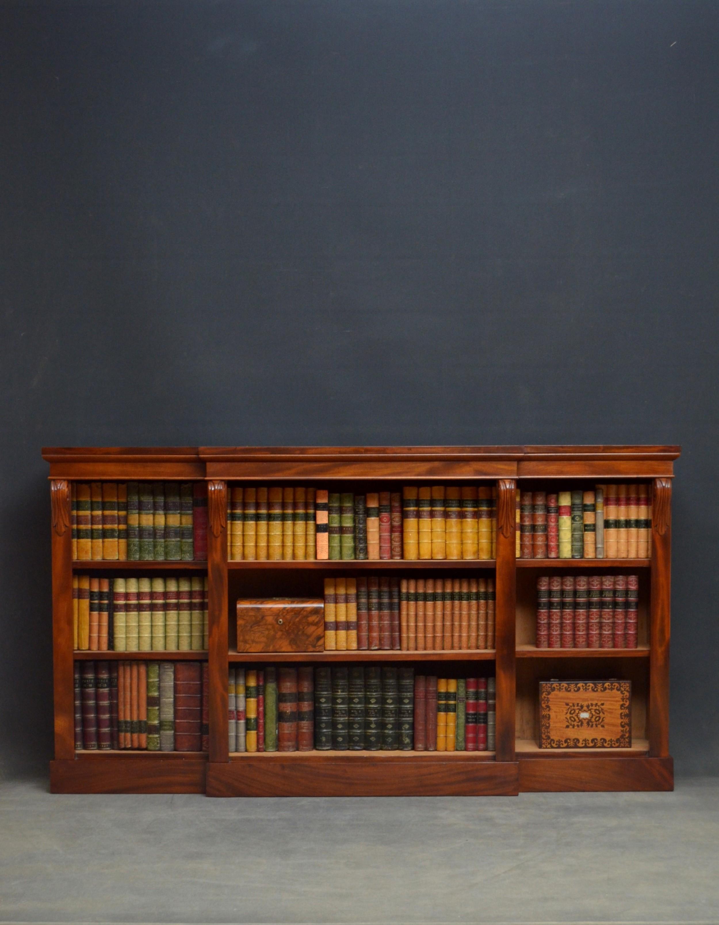 Low Victorian Mahogany Open Bookcase 626819