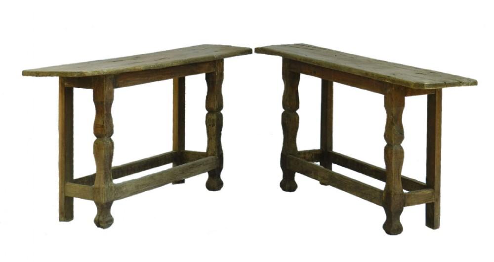 pair console tables primitive folk art