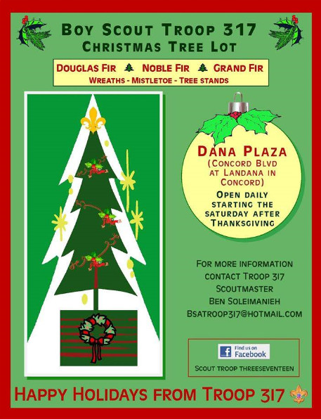 Scout troop christmas flyer