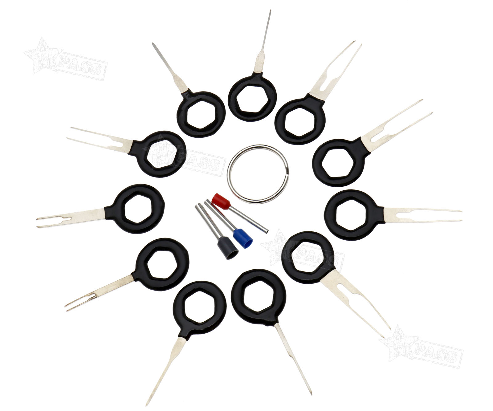 11pcs Connector Pin Extractor Kit Electrical Wire Car Auto