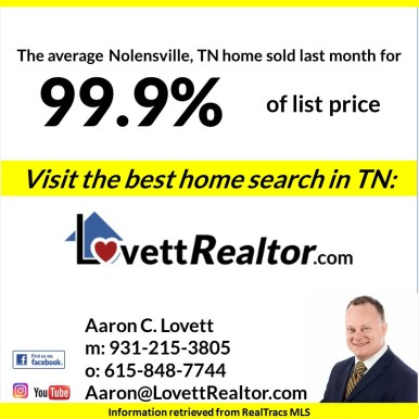 2018 July Rutherford County TN market report 3
