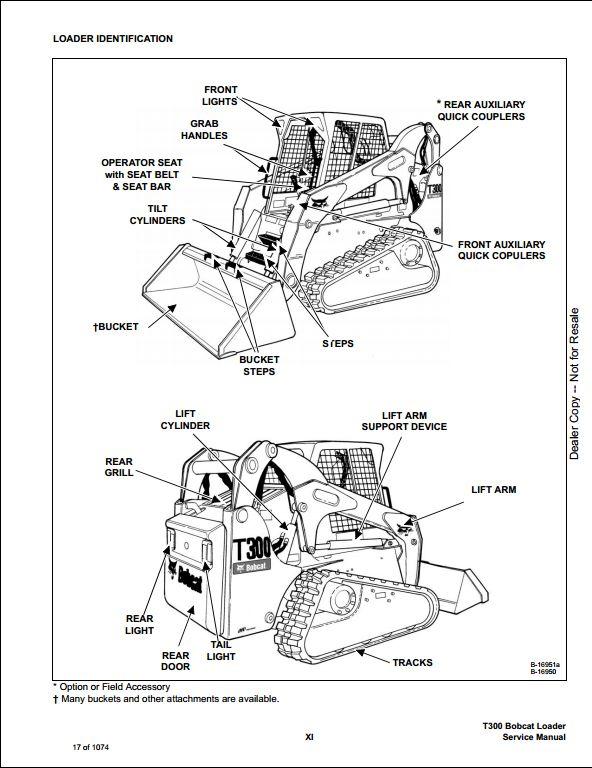 Bobcat T300 Turbo High Flow Track Loader Service Manual