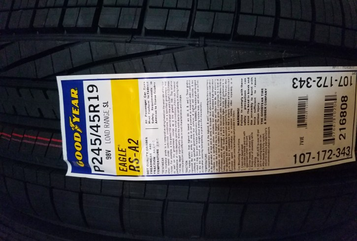 Goodyear Eagle RS-A2 245/45R19 - Image 1