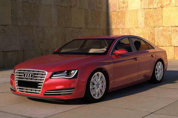 Red Audi 2