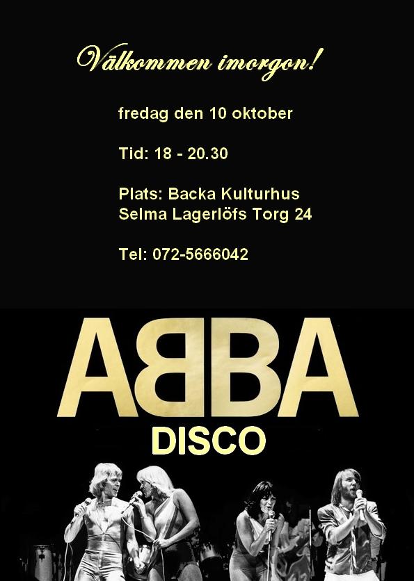välkommen till ABBA disco