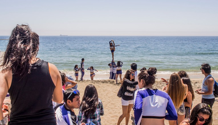 Cheerleaders en Viña del Mar